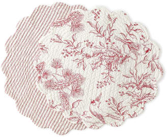 C & F Enterprises Evergreen Toile Round Placemats, Set of 4
