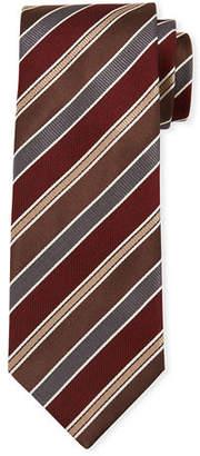 Brioni Men's Multi Repp-Stripe Silk Tie