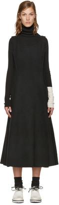 Yohji Yamamoto Black Double-Face Wool Dress $1,580 thestylecure.com