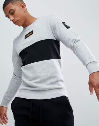 Jack and Jones Core sweatshirt with block panels and brand badge