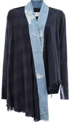 Greg Lauren contrast trim kimono jacket