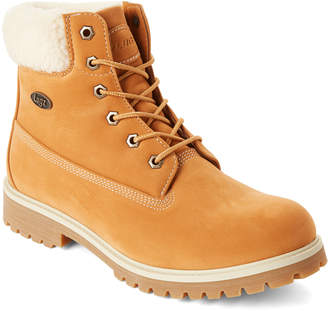 Lugz Golden Wheat Fleece-Lined Work Boots
