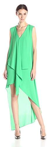 BCBGMAXAZRIA Women's Tara Tiered Asymmetrical-Hem Dress