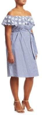 Marina Rinaldi Marina Rinaldi, Plus Size Denver Off-The-Shoulder Dress