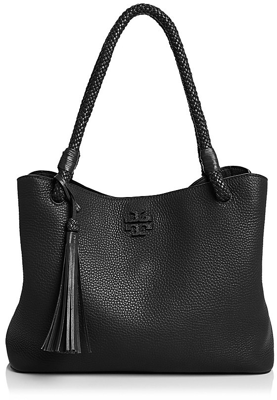Tory Burch Taylor Triple-Compartment Leather Tote