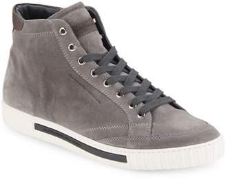 """Alessandro Dell'Acqua Alessandro Dell""""Acqua Men's Suede High-Top Sneakers"""