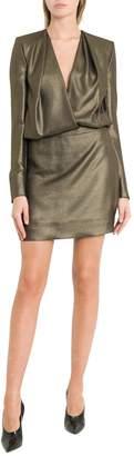 Saint Laurent Short Dress With Deep V-neck