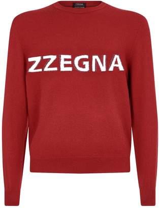 Ermenegildo Zegna Cashmere Logo Sweater
