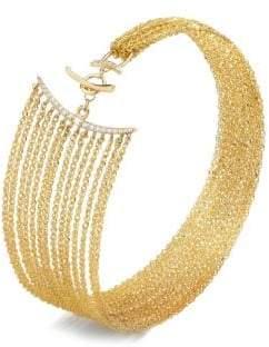 Celara 14K Yellow Gold& Diamond Statement Bracelet