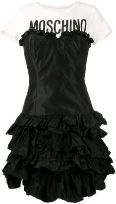 Moschino ruffled tiered T-shirt dress