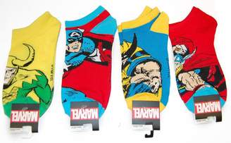 Wolverine Marvel Comics Marvel Mens Ankle Socks 4-pack Captain America Thor Loki