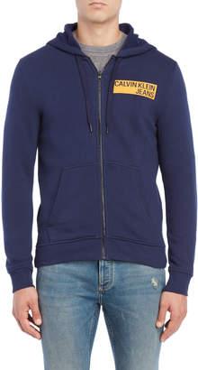 Calvin Klein Jeans Zip Front Hooded Sweatshirt