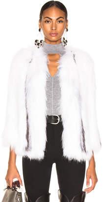 Yves Salomon Knitted Fox Jacket
