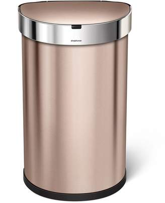 Simplehuman Semi-Round Sensor Can, Touchless Motion Sensor Garbage Bin, Stainless Steel, 45 L/11.8 Gal