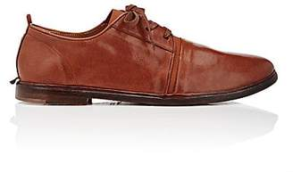 Elia Maurizi Men's Elastic-Vamp Leather Bluchers - Brown