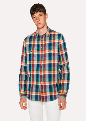 Paul Smith Men's Classic-Fit Red Check Patch-Pocket Shirt