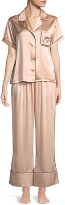 Morgan Lane Melissa Short-Sleeve Silk Pajama Set