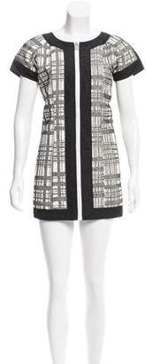 Chanel Woven Short Sleeve Dress