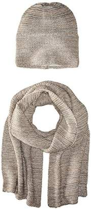 La Fiorentina Women's Knit Scarf and Hat Two-Piece Set