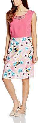Almost Famous Women's Bird Skirt Cocktail Floral Sleeveless Dress