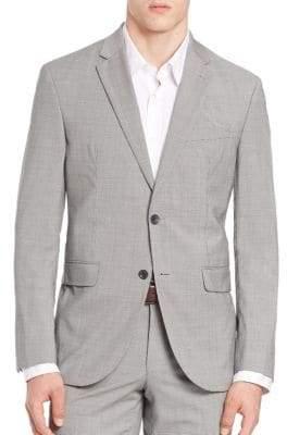 Saks Fifth Avenue Wool Check Blazer