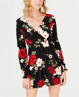 Derek Heart Juniors' Floral Surplice Dress