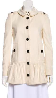 Burberry Wool Button-Up Coat