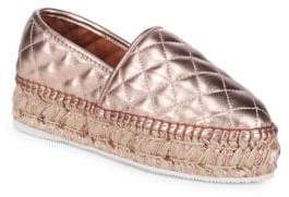 Metallic Quilted Leather Espadrilles