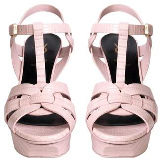 56fc29239d7 Saint Laurent Pink Heeled Women's Sandals - ShopStyle