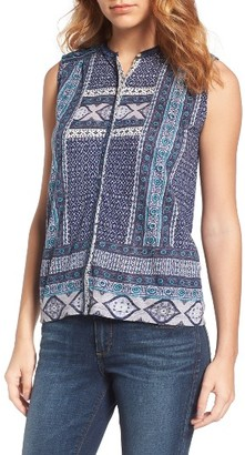 Women's Lucky Brand Border Print Blouse $59.50 thestylecure.com
