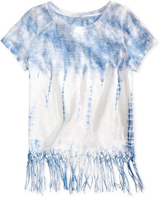 Jessica Simpson Nova Tie-Dye Fringe T-Shirt, Big Girls (7-16) $34.50 thestylecure.com