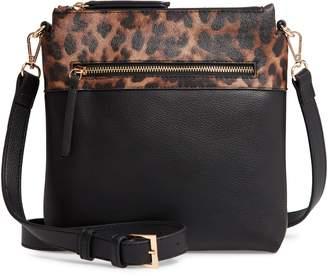 Sondra Roberts Colorblock Faux Leather Crossbody Bag