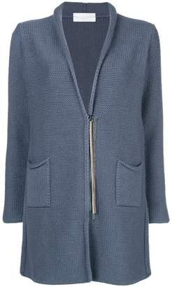 Fabiana Filippi fitted zipped cardi-coat