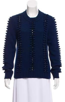 Tory Burch Embellished Crew Neck Sweater