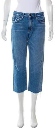 Helmut Lang Mid-Rise Raw-Edge Jeans