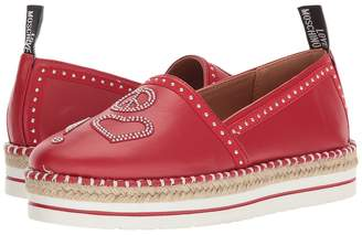 Love Moschino Espadrille w/ Studded Detail Women's Shoes