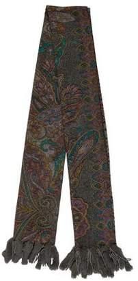 La Fiorentina Fur-Trimmed Wool Scarf
