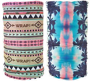 QVC Wrap! Set of 2 Head Wraps with 10Ways to Wear