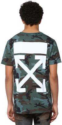 Off-White Off White Camouflage Print Cotton Jersey T-shirt