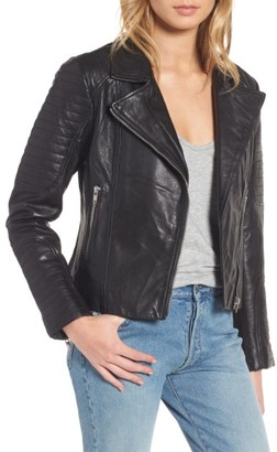 Women's Bb Dakota Dominic Leather Moto Jacket $364 thestylecure.com