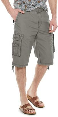 UNIONBAY Big & Tall Cordova Messenger Belted Cargo Shorts