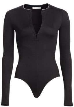 Rag & Bone Mica Long Sleeve Ribbed Bodysuit