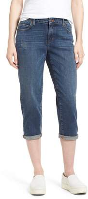 Eileen Fisher Tapered Stretch Organic Cotton Crop Jeans