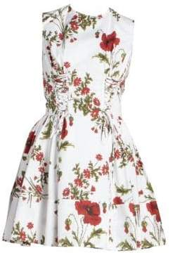 Alexander McQueen Women's Floral Fit-&-Flare Dress - Ivory - Size 42 (6)