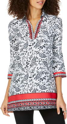Foxcroft Angel in Spanish Paisley Tunic Top