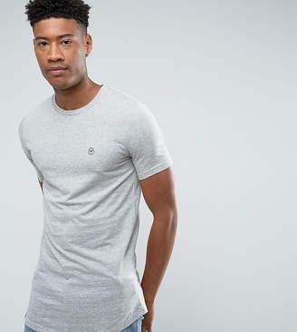Le Breve TALL Logline Curved Hem Marl T-Shirt