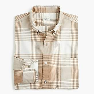 J.Crew Stretch Secret Wash shirt in bold plaid