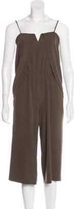 Halston Sleeveless Cropped Jumpsuit