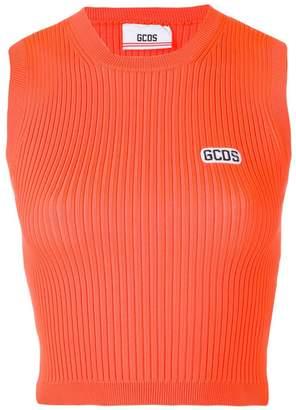 GCDS orange tank top