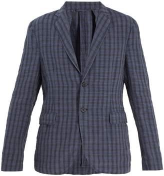 Acne Studios Antibes checked-linen blazer
